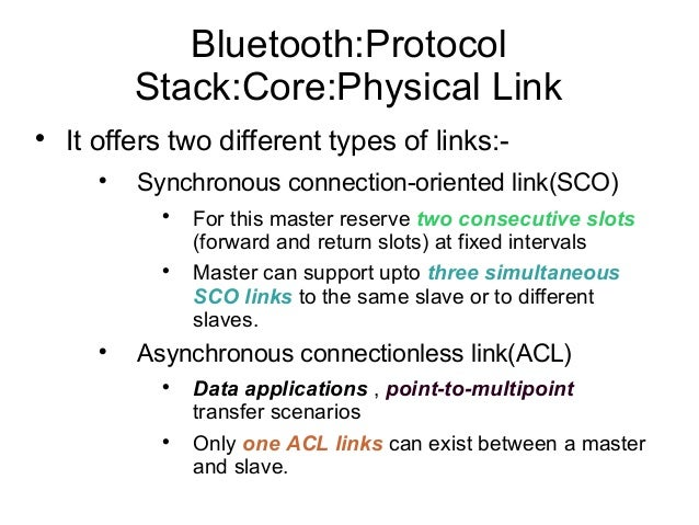 Bluetooth sco slots
