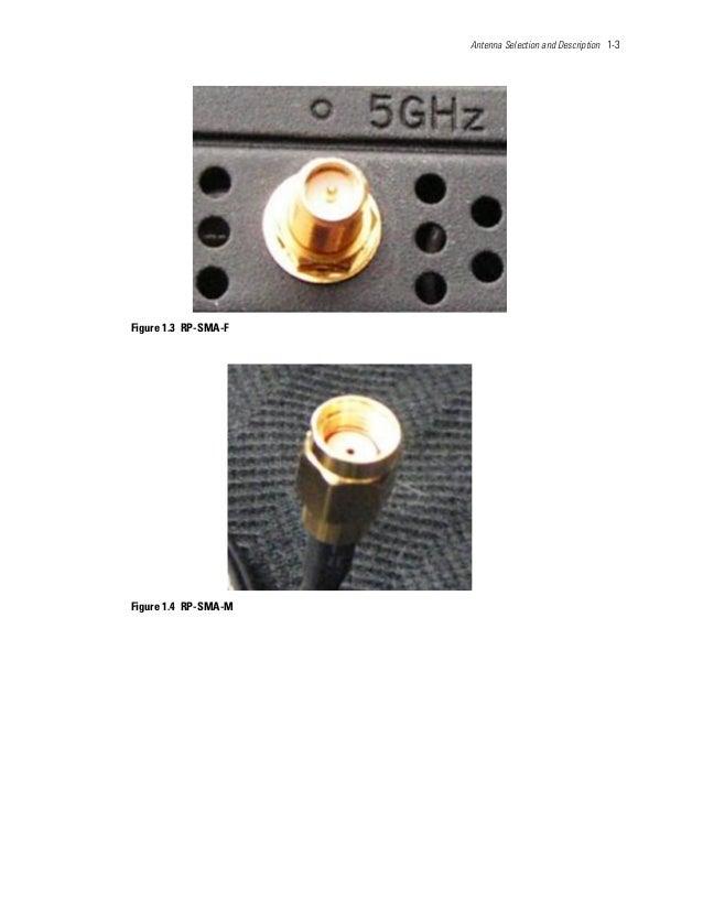 Antenna Selection and Description 1-3 Figure 1.3 RP-SMA-F Figure 1.4 RP-SMA-M