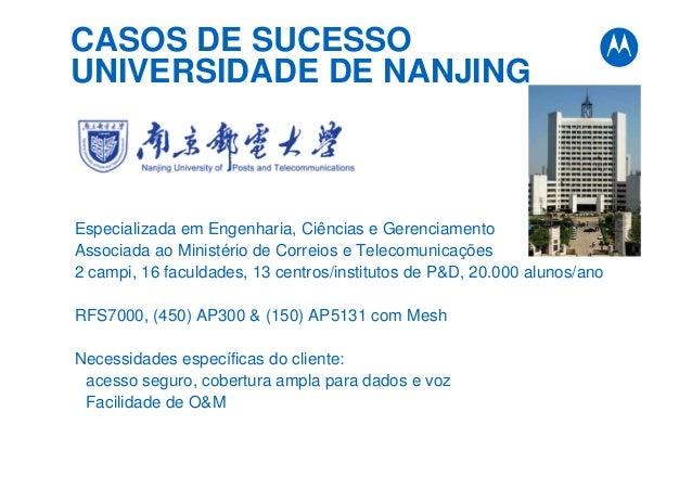 CASOS DE SUCESSO UNIVERSIDADE DE NANJING Especializada em Engenharia, Ciências e Gerenciamento Associada ao Ministério de ...