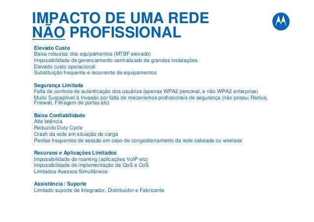 IMPACTO DE UMA REDE NÃO PROFISSIONAL Elevado Custo Baixa robustez dos equipamentos (MTBF elevado) Impossibilidade de geren...