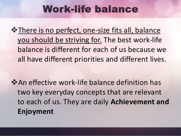 how to have work life balance