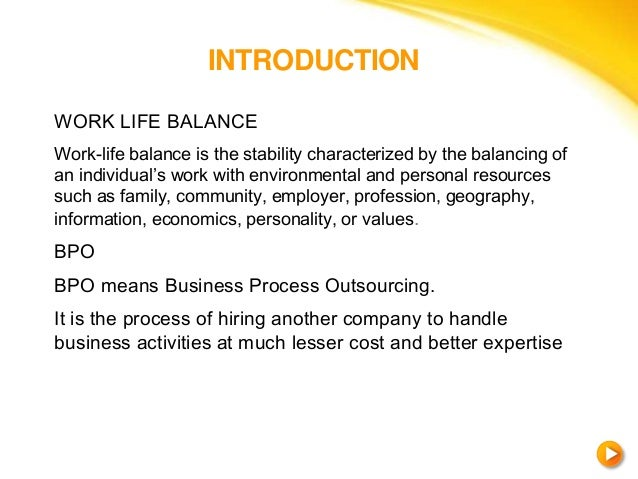 work life balance in bpo  work life balance conclusion recommendations 3