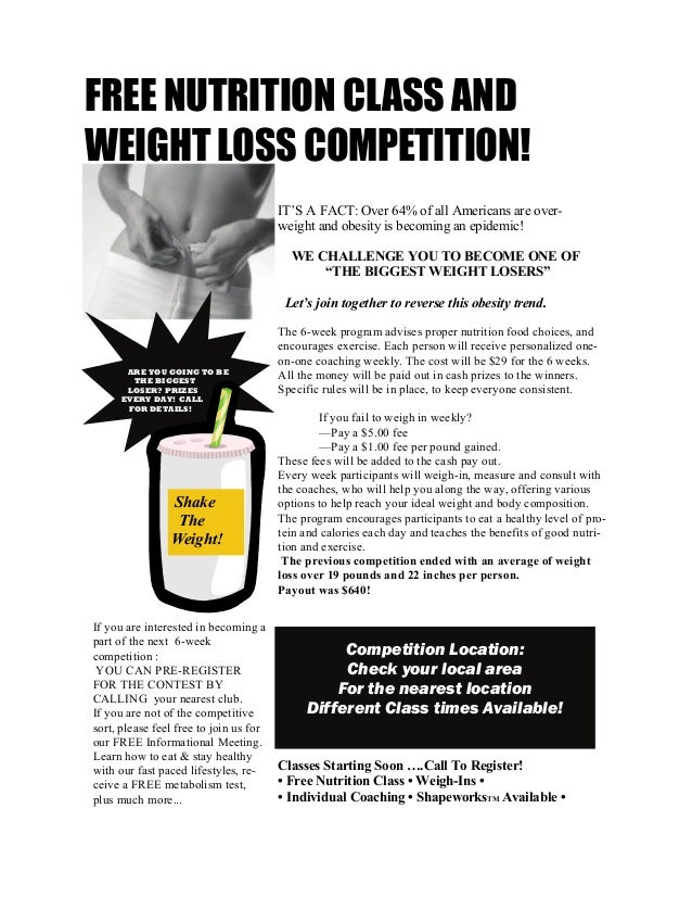 weight loss challenge rules