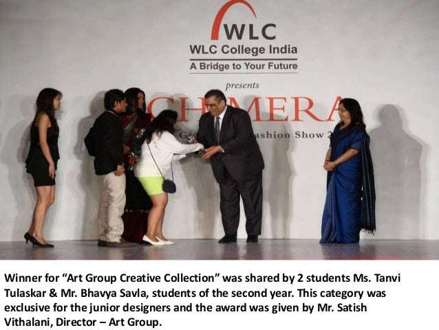 """Winner for """"Art Group Creative Collection"""" was shared by 2 students Ms. TanviTulaskar & Mr. Bhavya Savla, students of the ..."""