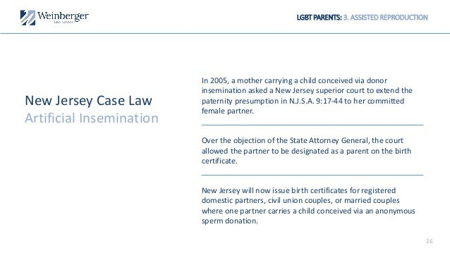 LGBT Adoption, Child Custody & Assisted Reproduction in New Jersey