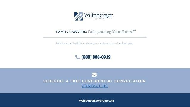 Bedminster • Freehold • Hackensack • Mount Laurel • Parsippany WeinbergerLawGroup.com (888) 888-0919 S C H E D UL E A F R ...