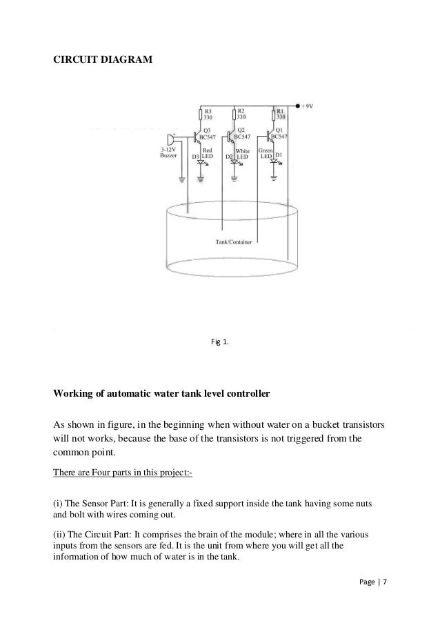 Water Level Indicator Circuit Diagram Using Transistor Electrical