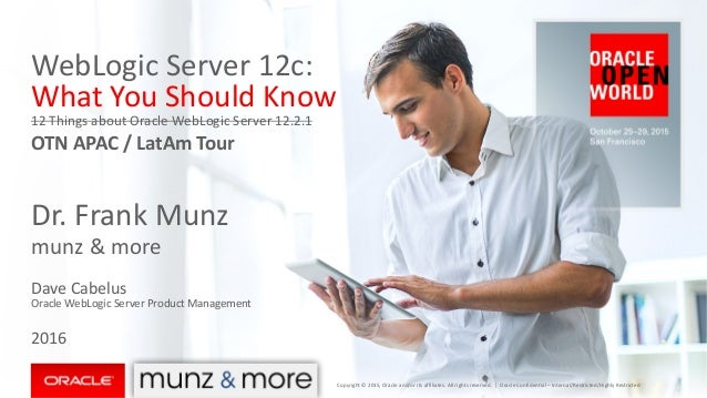 WebLogic	Server	12c:	 What	You	Should	Know 12	Things	about	Oracle	WebLogic	Server	12.2.1 OTN	APAC	/	LatAm Tour Dr.	Frank	M...
