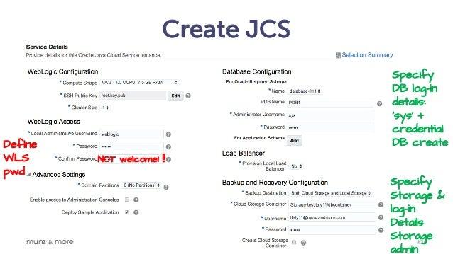 Oracle Java Cloud Service JCS (and WebLogic 12c) - What you