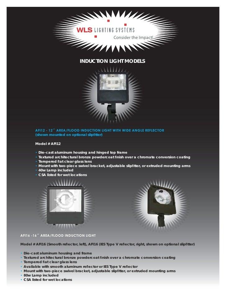 ... Parking garages Warehouses; 5. INDUCTION LIGHT ...  sc 1 st  SlideShare & Wls lighting azcodes.com