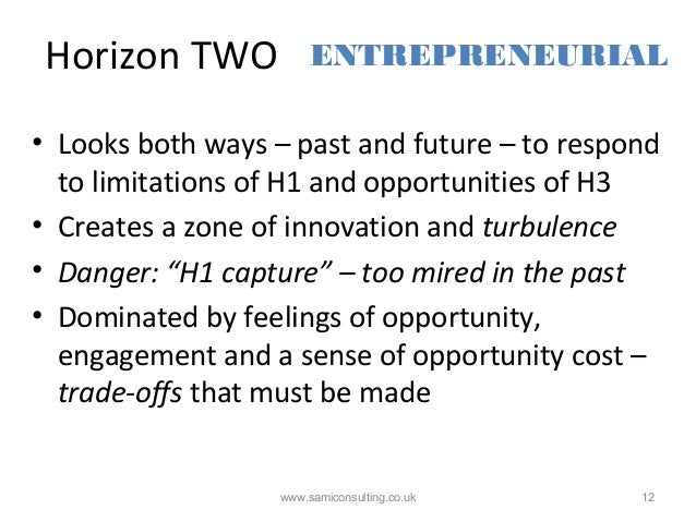 Horizon TWO www.samiconsulting.co.uk 12 • Looks both ways – past and future – to respond to limitations of H1 and opportun...