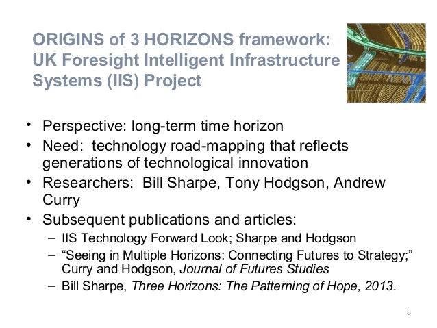 • Perspective: long-term time horizon • Need: technology road-mapping that reflects generations of technological innovatio...