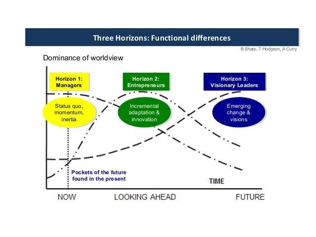 Three Horizons: Functional differencesThree Horizons: Functional differences B Sharp, T Hodgson, A Curry Horizon 1: Manage...