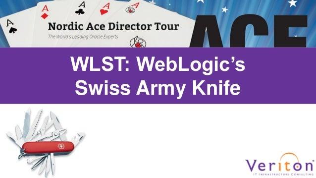 WLST: WebLogic's Swiss Army Knife