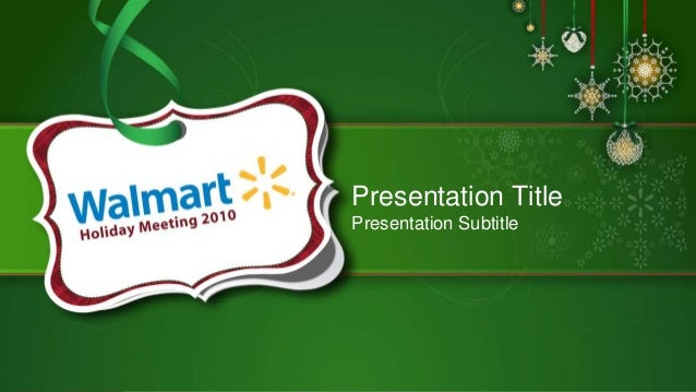 walmart annual holiday event template, Walmart Template Presentation, Presentation templates