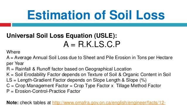 Watershed principles of erosion for Soil k factor