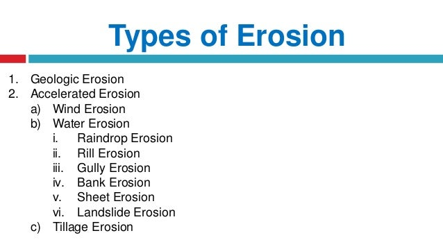 Watershed principles of erosion for Pictures of different types of soil with their names