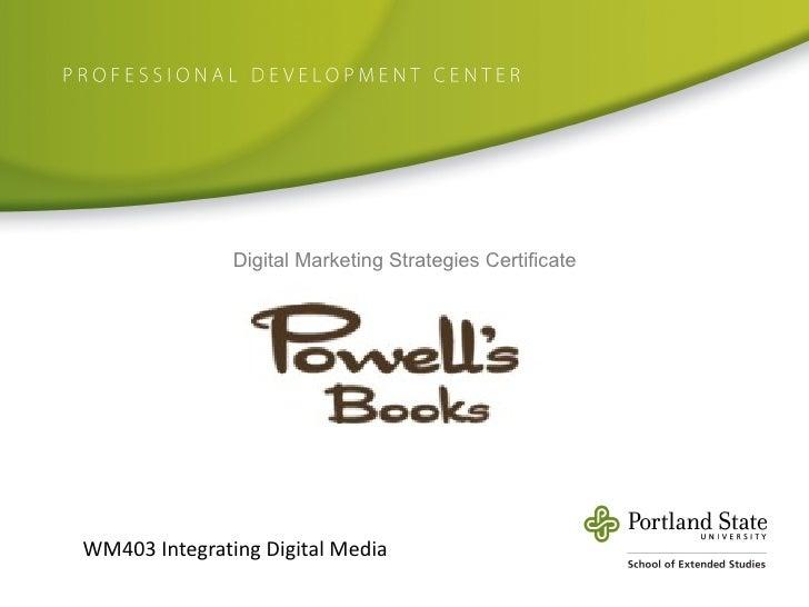 WM403 Integrating Digital Media