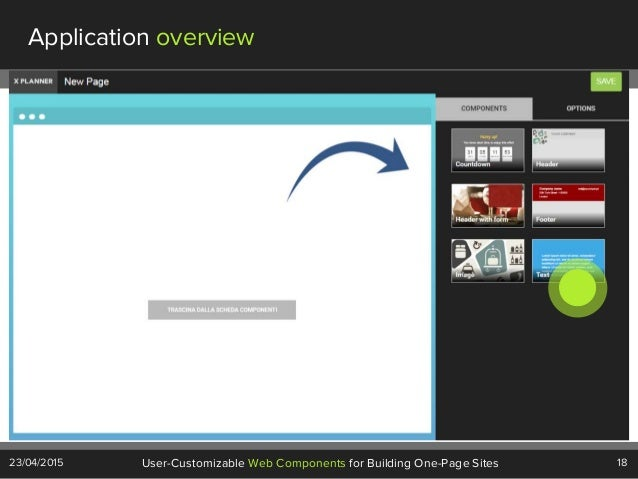 18User-Customizable Web Components for Building One-Page Sites23/04/2015 Application overview