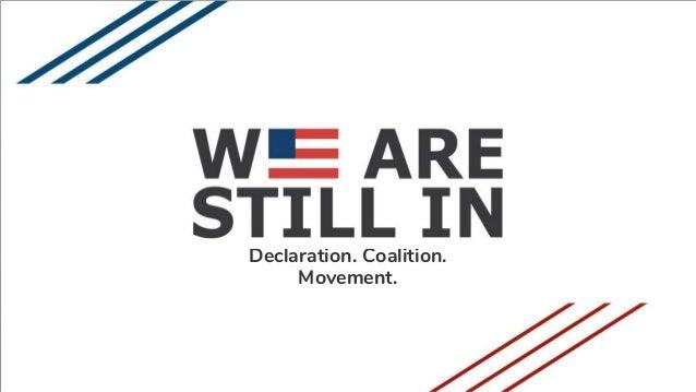 Declaration. Coalition. Movement.