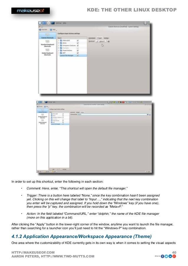 LinUx KDE guide