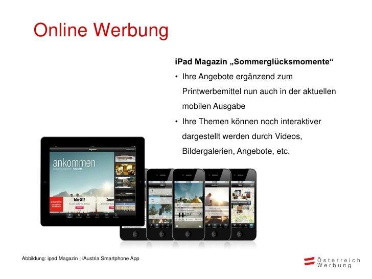 """Online Werbung                                                    iPad Magazin """"Sommerglücksmomente""""                      ..."""