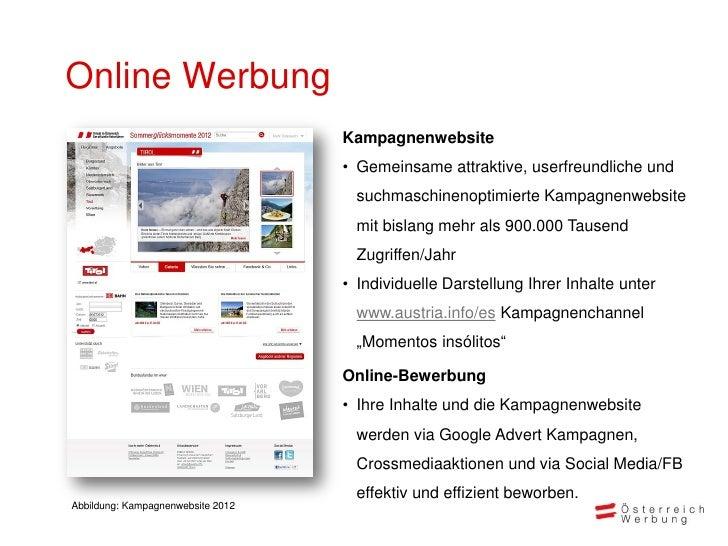 Online Werbung                                   Kampagnenwebsite                                   • Gemeinsame attraktiv...