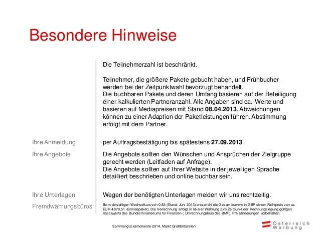 Rechnungsadresse Auswahl Markt Aktivität / Teilnahmepaket Leistungszeitraum Währung Preis exkl. MwSt.  GB Sommerglücksmom...
