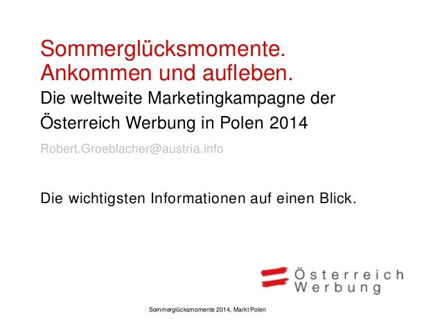 ÖW Marketingkampagne Sommer 2014 Polen Slide 2
