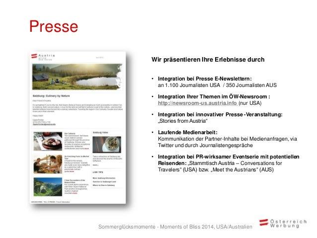Presse Wir präsentieren Ihre Erlebnisse durch • Integration bei Presse E-Newslettern: an 1.100 Journalisten USA / 350 Jour...