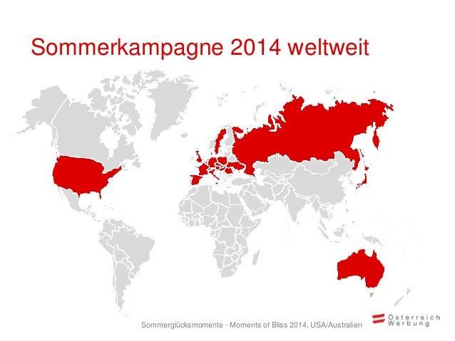Sommerkampagne 2014 weltweit Sommerglücksmomente - Moments of Bliss 2014, USA/Australien