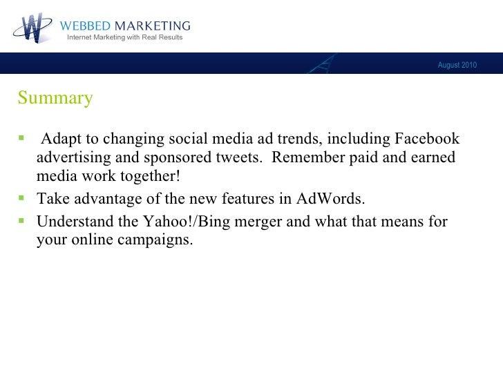 Webbed Marketing August Webinar: what's new in online advertising