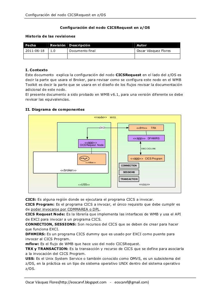 Configuración del nodo CICSRequest en z/OS                    Configuración del nodo CICSRequest en z/OSHistoria de las re...