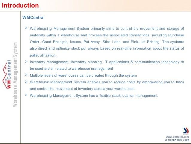 Warehouse Management System – WMCentral