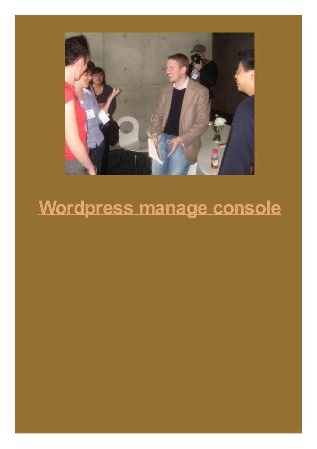 Wordpress manage console