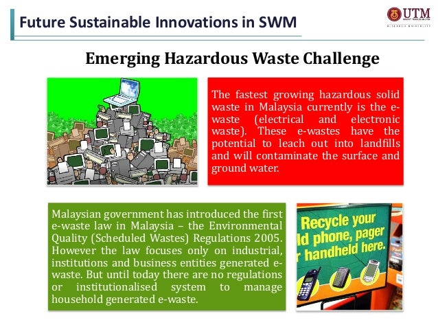 Present and Future Innovations in Solid Waste Management in