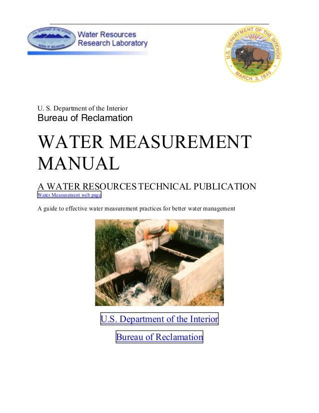 Water Measurement Manual 2001