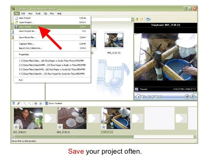 windows movie maker tutorial pdf