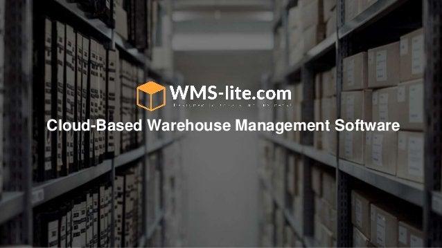 Cloud-Based Warehouse Management Software