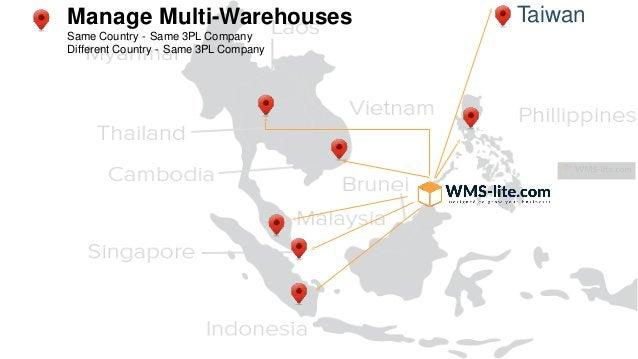 TaiwanManage Multi-Warehouses Same Country - Same 3PL Company Different Country - Same 3PL Company