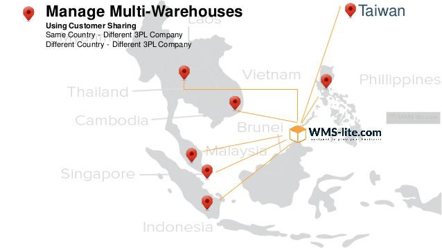 TaiwanManage Multi-Warehouses Using Customer Sharing Same Country - Different 3PL Company Different Country - Different 3P...
