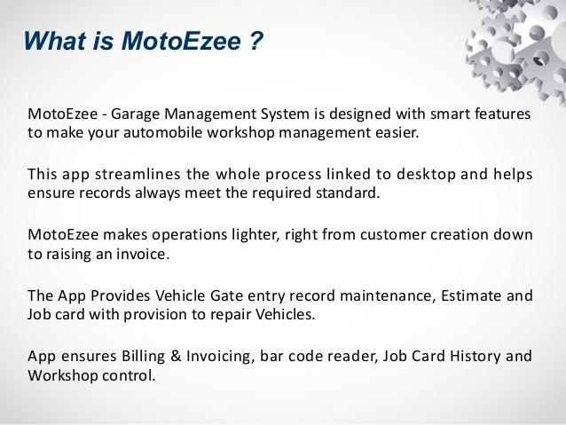 MotoEzee Garage Workshop Management System - Garage invoice system