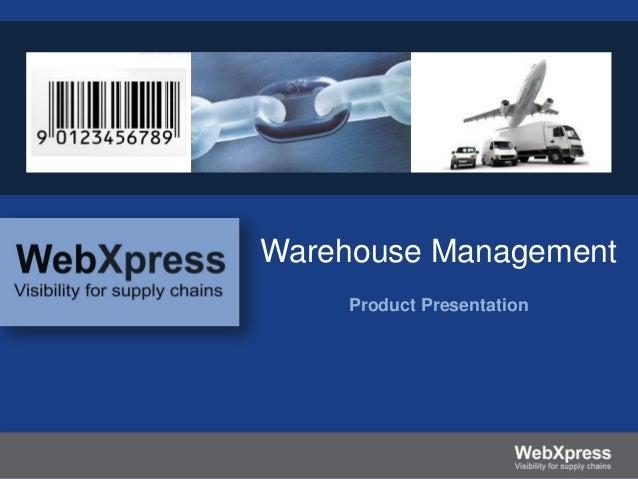 Warehouse Management Product Presentation