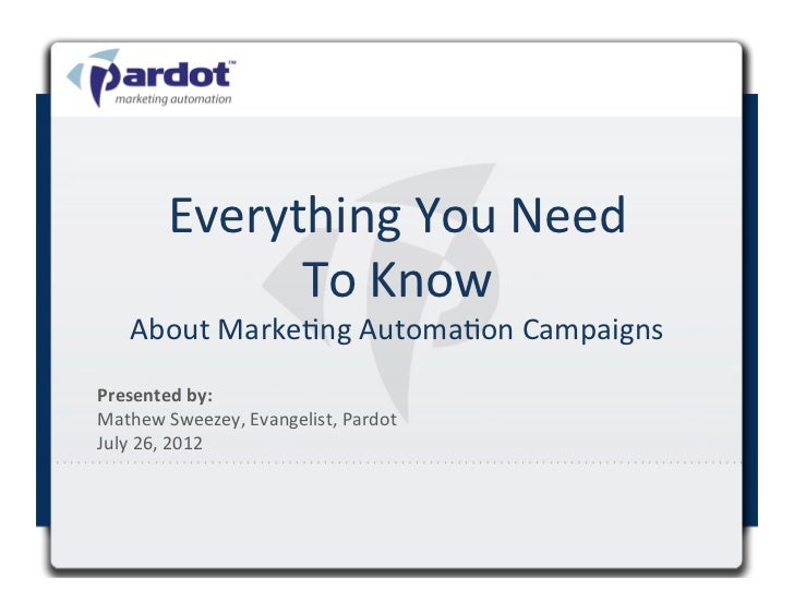 Everything	  You	  Need	                  To	  Know	         About	  MarkeDng	  AutomaDon	  Campaigns	  Presented	  by:	  ...