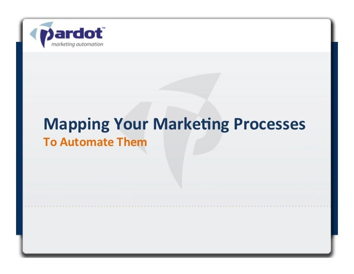 Mapping Your Marke.ng Processes  To Automate Them