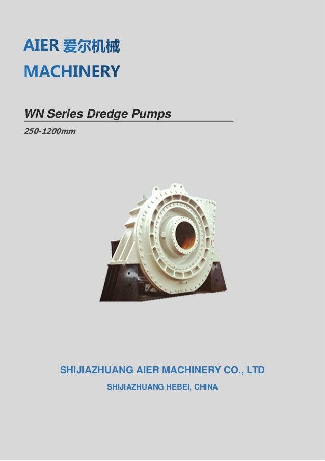 WN dredge pump brochure