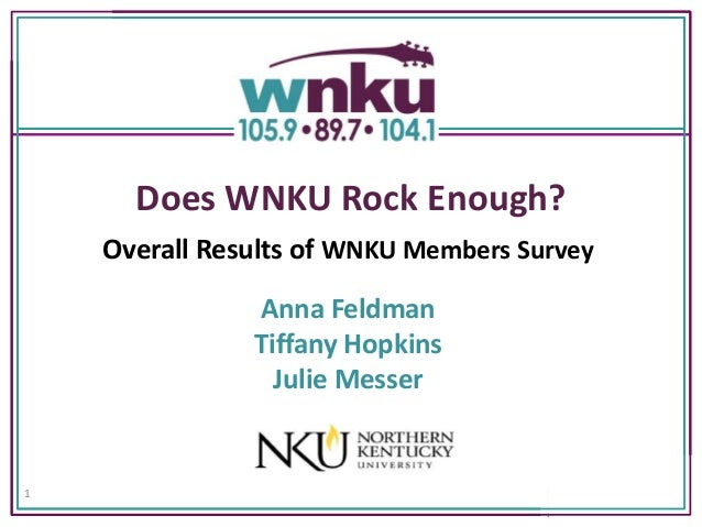 Does WNKU Rock Enough?    Overall Results of WNKU Members Survey               Anna Feldman               Tiffany Hopkins ...