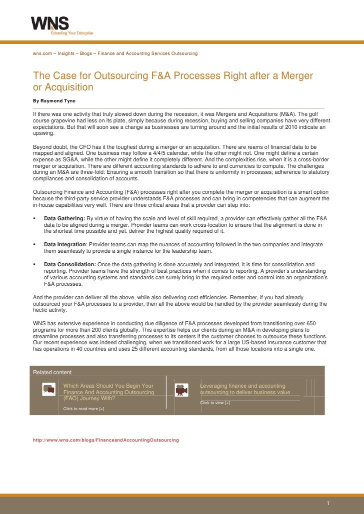 wns mergers and acquisitions case study