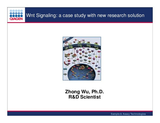 Wnt Signaling: a case study with new research solution  Zhong Wu, Ph.D. R&D Scientist  Sample & Assay Technologies