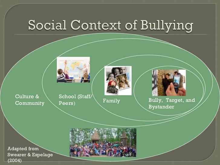 an overview of the early socialization of aggressive victims of bullying Understanding the psychology of bullying moving toward a social-ecological diathesis quences of involvement in bullying an aggressive youth bullying and victim.